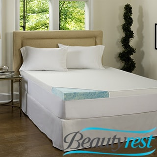 Beautyrest 4-inch Gel Memory Foam Mattress Topper with Waterproof Cover