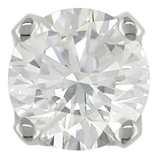 Haylee Jewels 14k White Gold Single 1/10ct Diamond Earrings