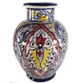 Casablanca Hand-made Ceramic Vase (Morocco)