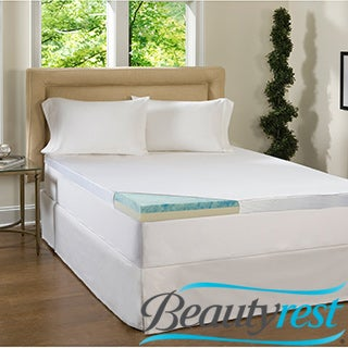 Beautyrest 2 Piece 2-inch Flat Select Gel Memory Foam Mattress Topper with Cover