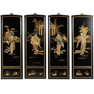 Lady Generals Wall Plaques Set of 4 (China)