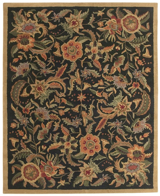 St Croix Trading Hand-tufted Paradise Black/ Multi Wool Rug (5' x 8') at Sears.com
