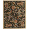 Hand-tufted Paradise Black/ Multi Wool Rug (5' x 8')