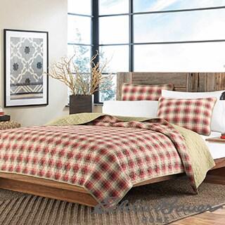 Eddie Bauer Ravenna Plaid 3-piece Reversible Quilt Set