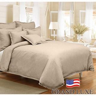 Grand Luxe Gotham Linen 3-piece Duvet Cover Set