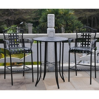 International Caravan Wrought Iron Bistro Set