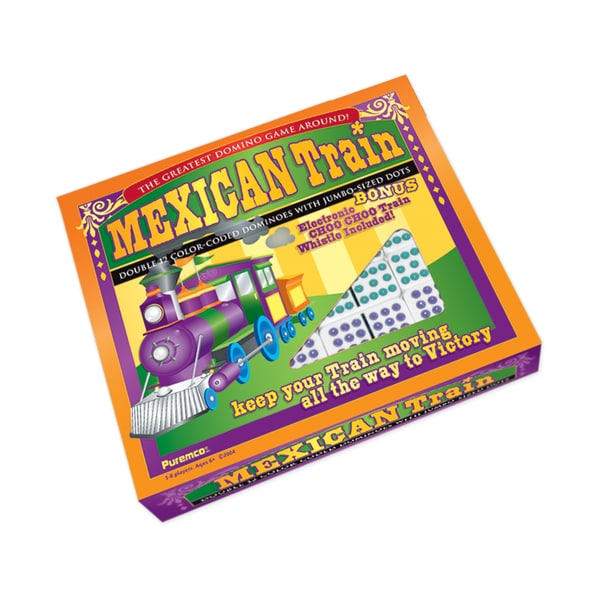 Mexican Train Double 12 Color Dot Dominoes - Professional Size 25896451