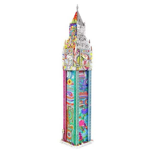 Big Ben in Westminster, London 69-piece 3D Coloring Puzzle 25896633