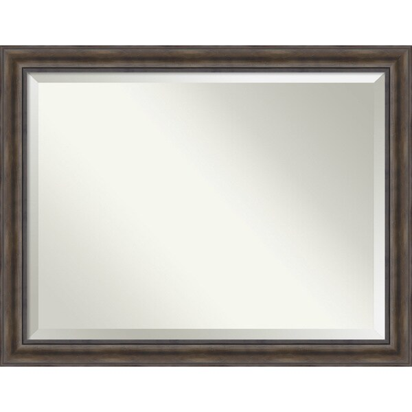 Wall Mirror Oversize Large, Rustic Pine 46 x 36-inch 25897220