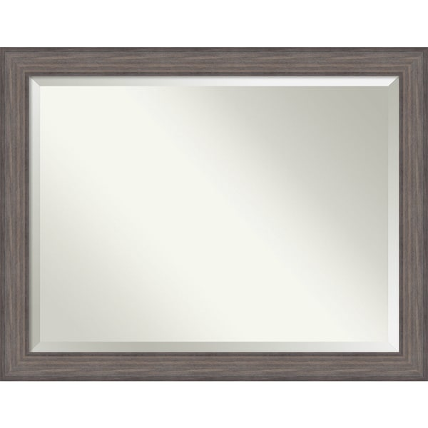 Wall Mirror Oversize Large, Country Barnwood 46 x 36-inch 25897293