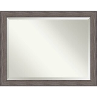 Wall Mirror Oversize Large, Country Barnwood 46 x 36-inch - oversize large - 46 x 36-inch