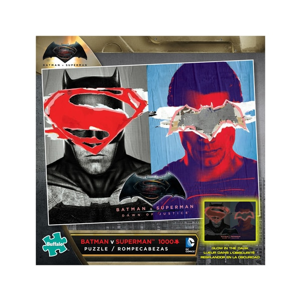 Batman V Superman Glow-in-the-Dark Jigsaw Puzzle: 1000 Pcs 25897387