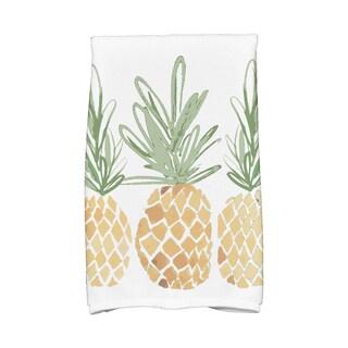 3 Pineapples Geometric Print Kitchen Towel