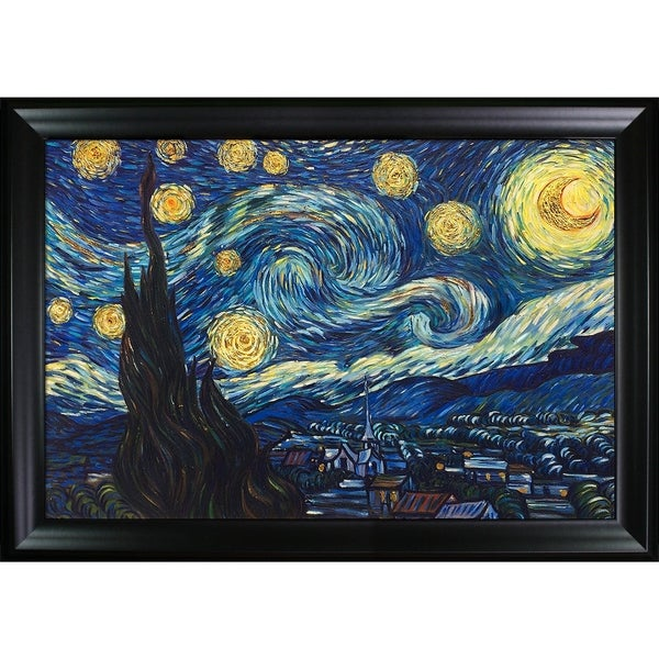 Vincent Van Gogh 'Starry Night' Hand Painted Oil Reproduction 25937987
