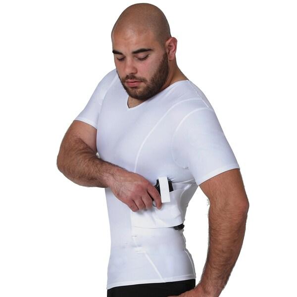 IS Pro Tactical by Insta Slim Men's Concealment Compression V-Neck Shirt 25941654