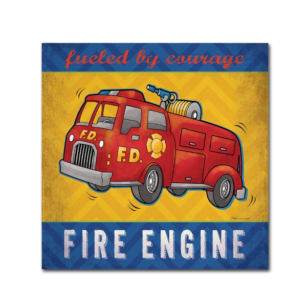 Stephanie Marrott 'Fire Engine' Canvas Art 25950974