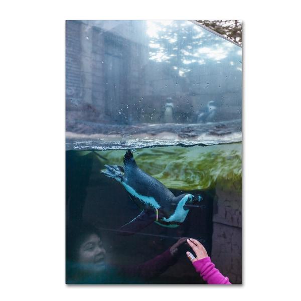 Yale Gurney 'I Love Penguin' Canvas Art 25956073