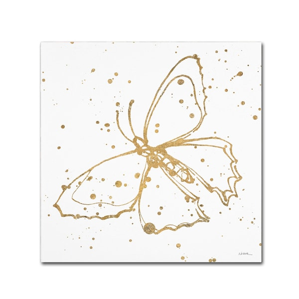 Shirley Novak 'Golden Wings II' Canvas Art 25957769