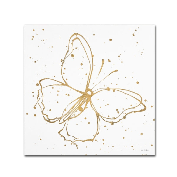 Shirley Novak 'Golden Wings I' Canvas Art 25957800