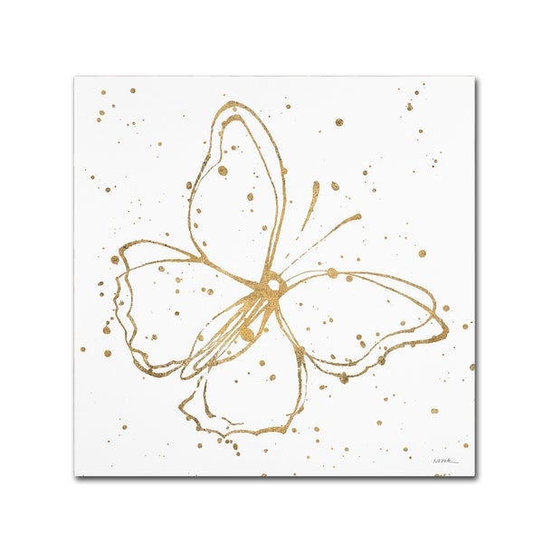 Shirley Novak 'Golden Wings I' Canvas Art 25957803