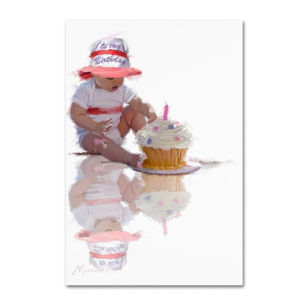 The Macneil Studio 'Baby with Birthday Cake' Canvas Art 25958053
