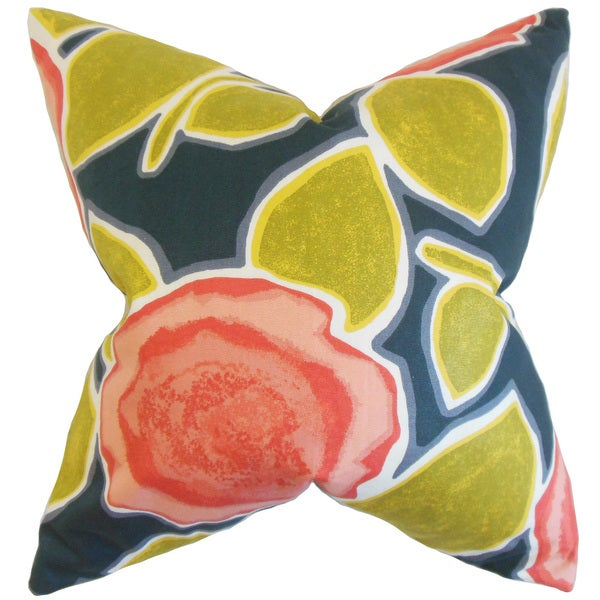 Carlin Geometric 24-inch Down Feather Throw Pillow Poppy 25969405