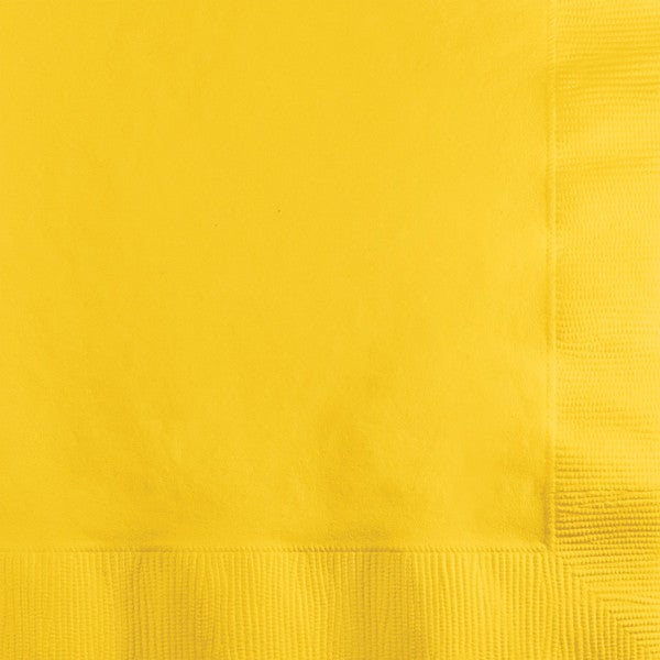 Touch of Color Beverage Napkin 2ply School Bus Yellow ,Case of 600 25972188