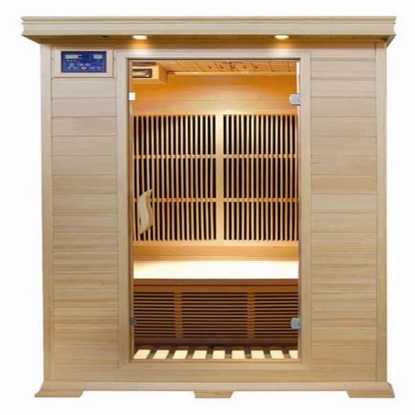 Evansport 2-person Hemlock Sauna with Carbon Heaters 25974425