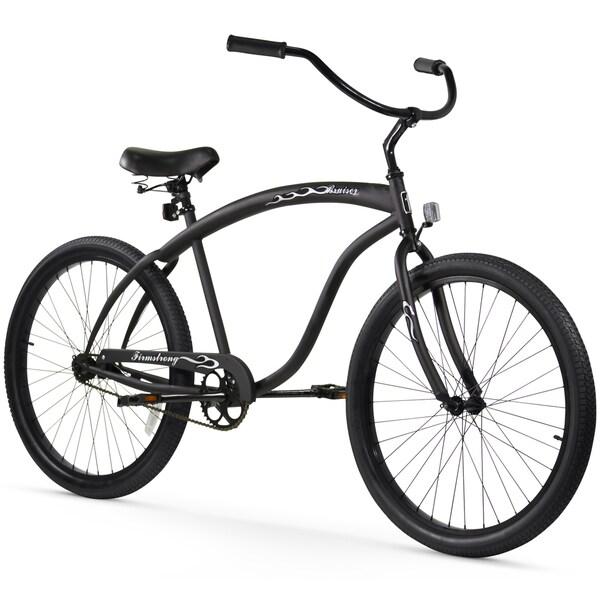 "26"" Firmstrong Bruiser Man Single Speed Beach Cruiser Men's Bicycle, Matte Black 25989555"