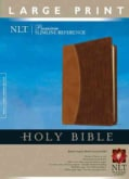 Holy Bible: New Living Translation,tutone Brown/alligator,premium Slimline, Reference