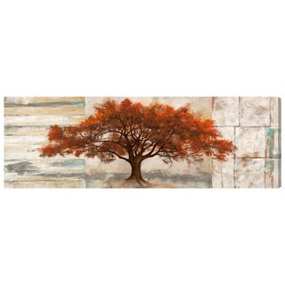 Oliver Gal 'SAI - Amber Leaves' Floral and Botanical Wall Art Canvas Print - Orange, Brown