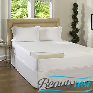Beautyrest 3-inch Memory Foam Topper with Egyptian Cotton Cover
