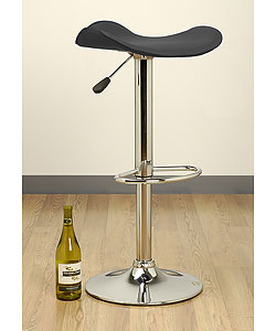 Saddle Black Barstool