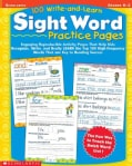 100 Write-And-Learn Sight Word Practice Pages: Engaging Reproductible Activity Pages That Help Kids Recognize, Wr... (Paperback)