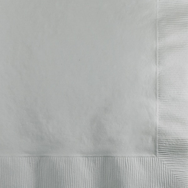 Touch of Color Beverage Napkin 2ply Shimmering Silver ,Case of 1200 26048218