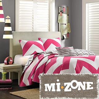 Mi Zone Virgo Reversible 4-piece Quilt Set