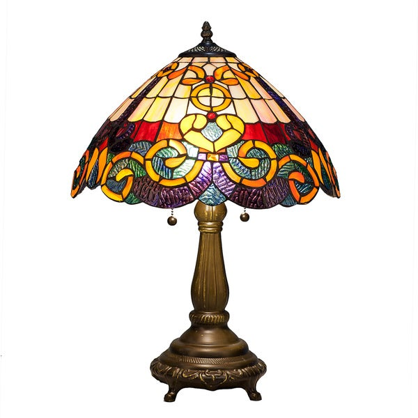 Warehouse Of Tiffany Nsc161228a877 Tiffany Style Table Lamp
