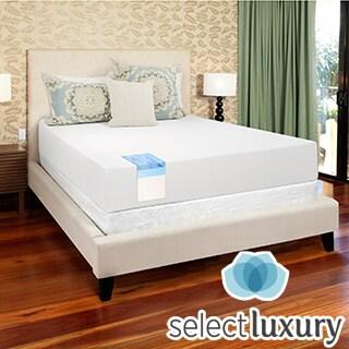 Select Luxury Gel Memory Foam 12-inch Medium Firm Queen-size Mattress Set with EZ Fit Foundation