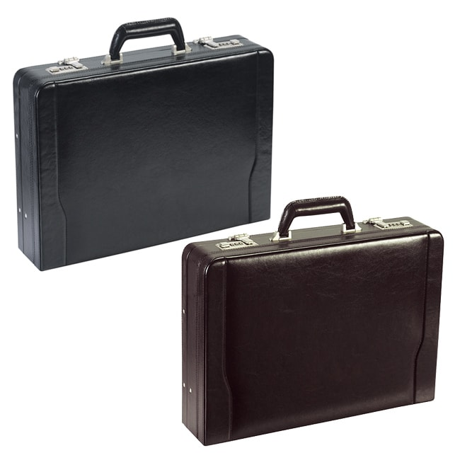 Solo Leather Expandable 16-inch Laptop Attache Briefcase