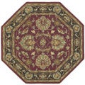 Hand-tufted Agra Wool Rug (6' octagon)