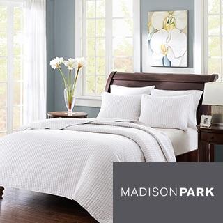 Madison Park Jaxson White 3-piece Coverlet Set