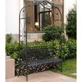 International Caravan Wrought Iron Arbor Bench