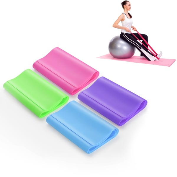 Zodaca Pull Up Bands Resistance Stretch Exercise Latex Loop Bands for Fitness Therapy Muscle Strength (Set of 4) 26192027