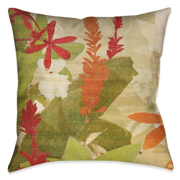 Laural Home Foliage Sunset II Outdoor Decorative Pillow 26197343