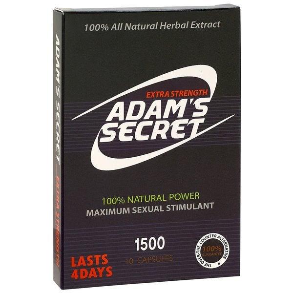 Adam's Secret 1500 100% Natural Male Libido Performance Enhancement (10 Capsules) 26221293