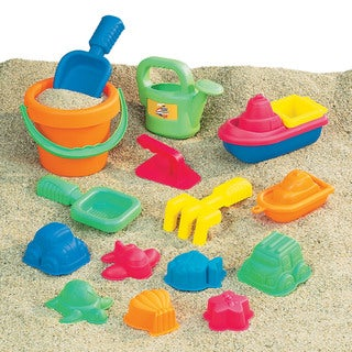 Small World Toys 15-piece Sand Toy Assortment