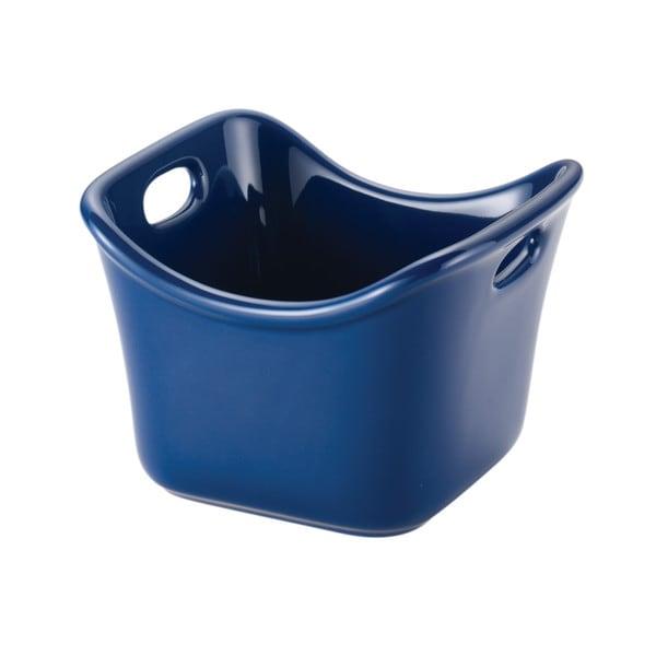 Rachael Ray Stoneware Individual 10-Ounce Blue Square Ramekin 26249885