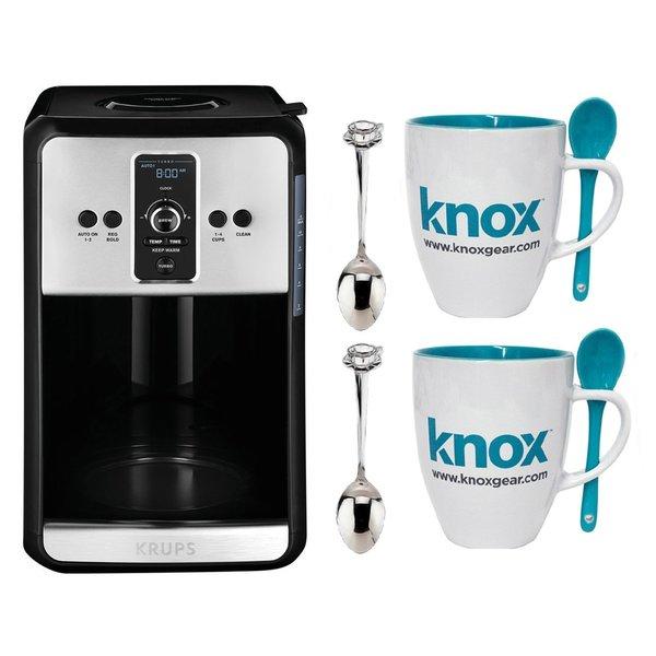 Krups Savoy Turbo EC411 12-Cup Programmable Coffee Maker + Mug and Spoon Set 26250125