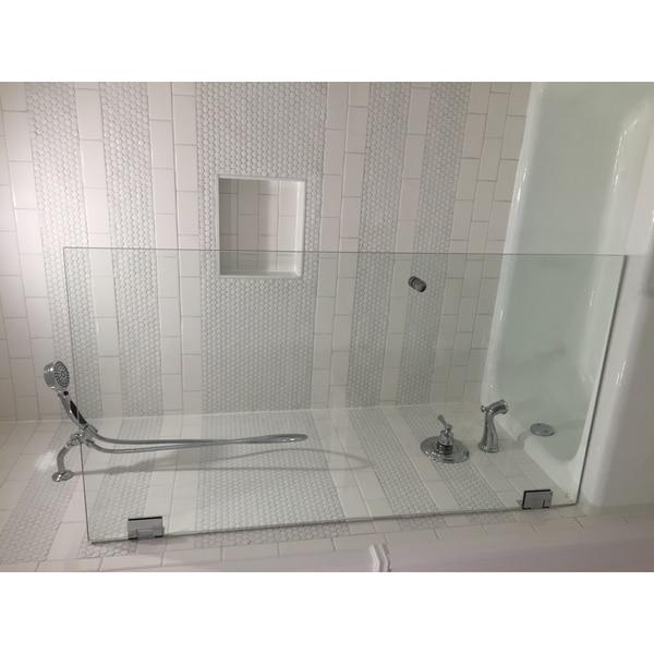 Glass Warehouse Clear Glass Frameless Shower Bath Door 26252124