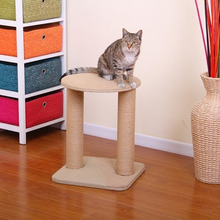 PetPals Throne Jute Double Post Scratcher Cat Tree